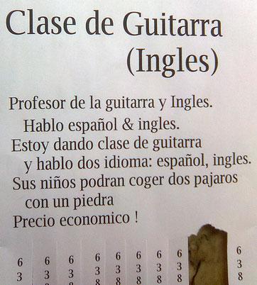 Clases de guitarra ingles