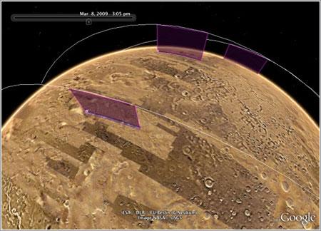 Satélites sobre Marte