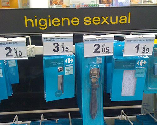 Higiene sexual en el «Carreful»