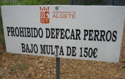 Prohibido defecar perros