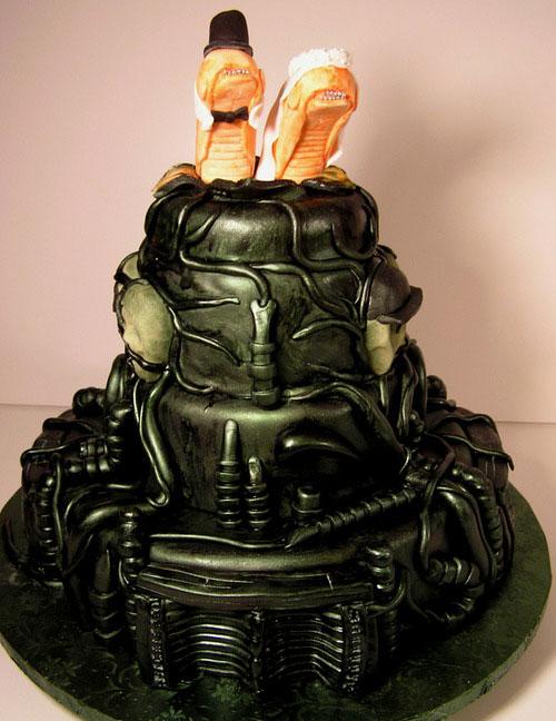 H.R. Giger Cake por Jetcity Cakes