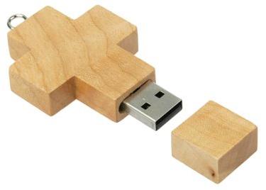 Crucifijo USB: en 2 GB caben muchas biblias