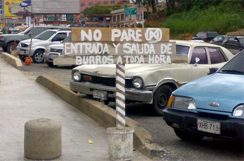 Entrada Salida Burros
