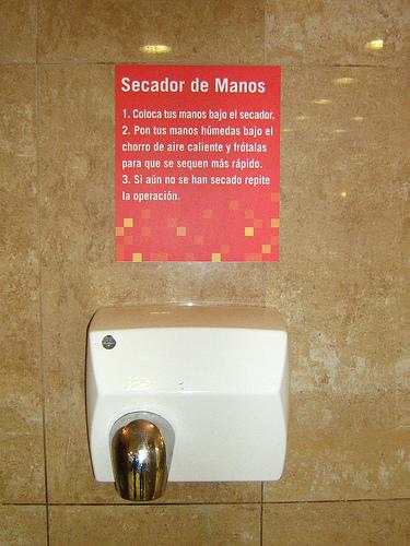 Instrucciones para secarse las manos