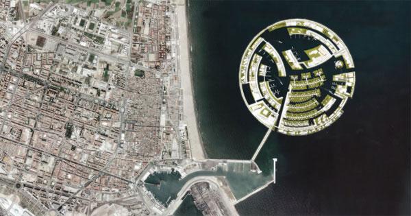 Isla Luna, vista virtualmente desde el aire
