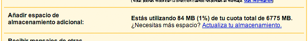 Mas Espacio Gmail