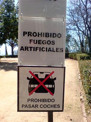 Prohibido fuegos artificiales
