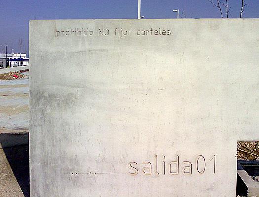 Prohibido NO fijar carteles