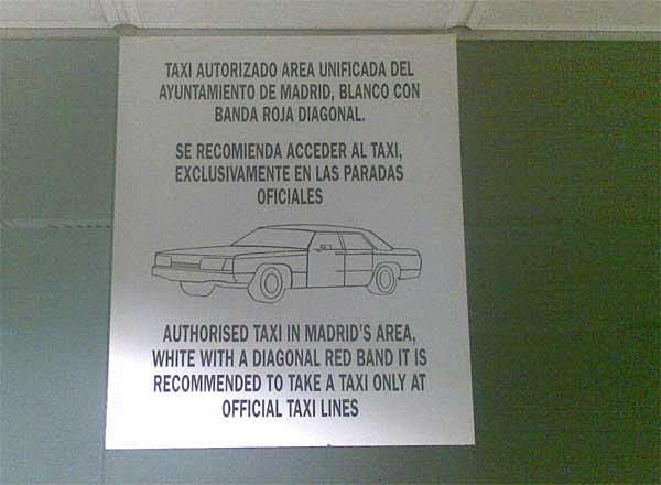 Taxi de Madrid. Wtf