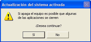 Advertencia obvia de Windows