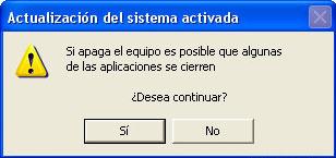 Advertencia obvia de Windows
