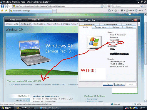Windows XP SP2 vs SP3